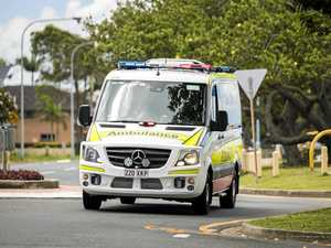 Man hospitalised after car, motorbike crash