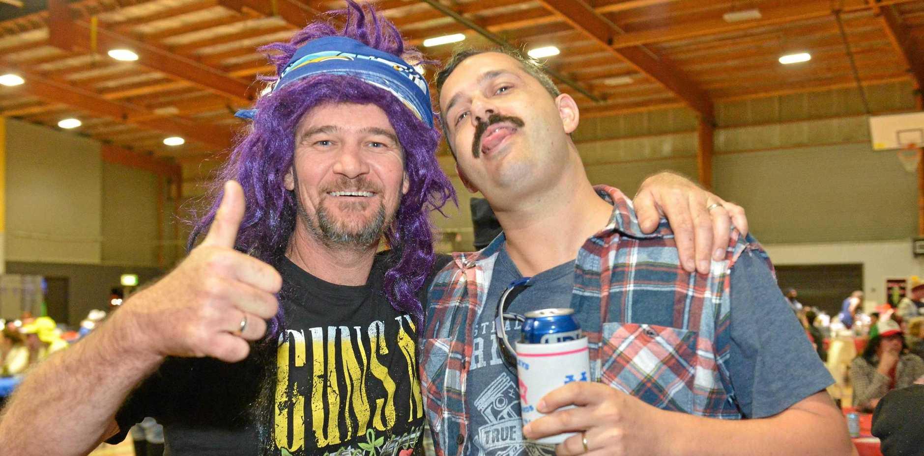 Bret and Craig at last year's Bogan Bingo fundraiser.