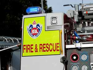 Emergency services responding to fire