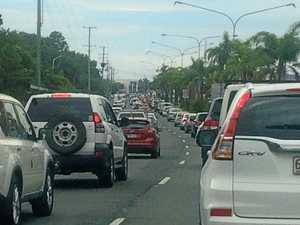 Four hospitalised, traffic blocked after multi-vehicle crash