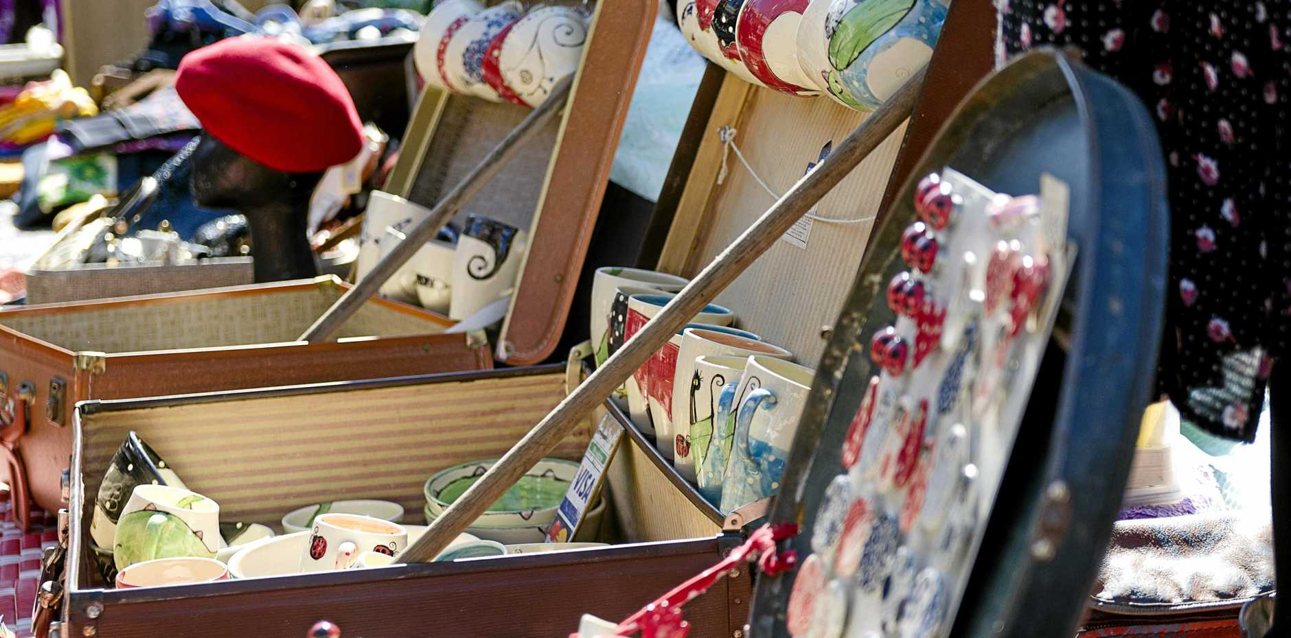 RARE SELECTIONS: Goodies at the Jumpers and Jazz Suitcase Rummage will be on offer from 9.30-3pm today. The rummage in Palmerin St will extend from Fitzroy St to the Warwick Town Hall.