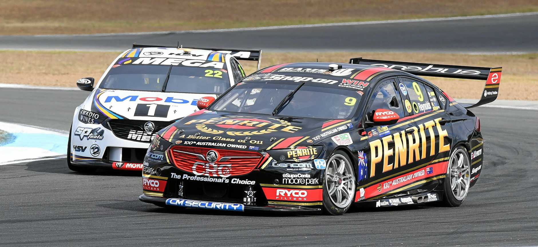 David Reynolds during practice at the Ipswich SuperSprint at Queensland Raceway on Friday.