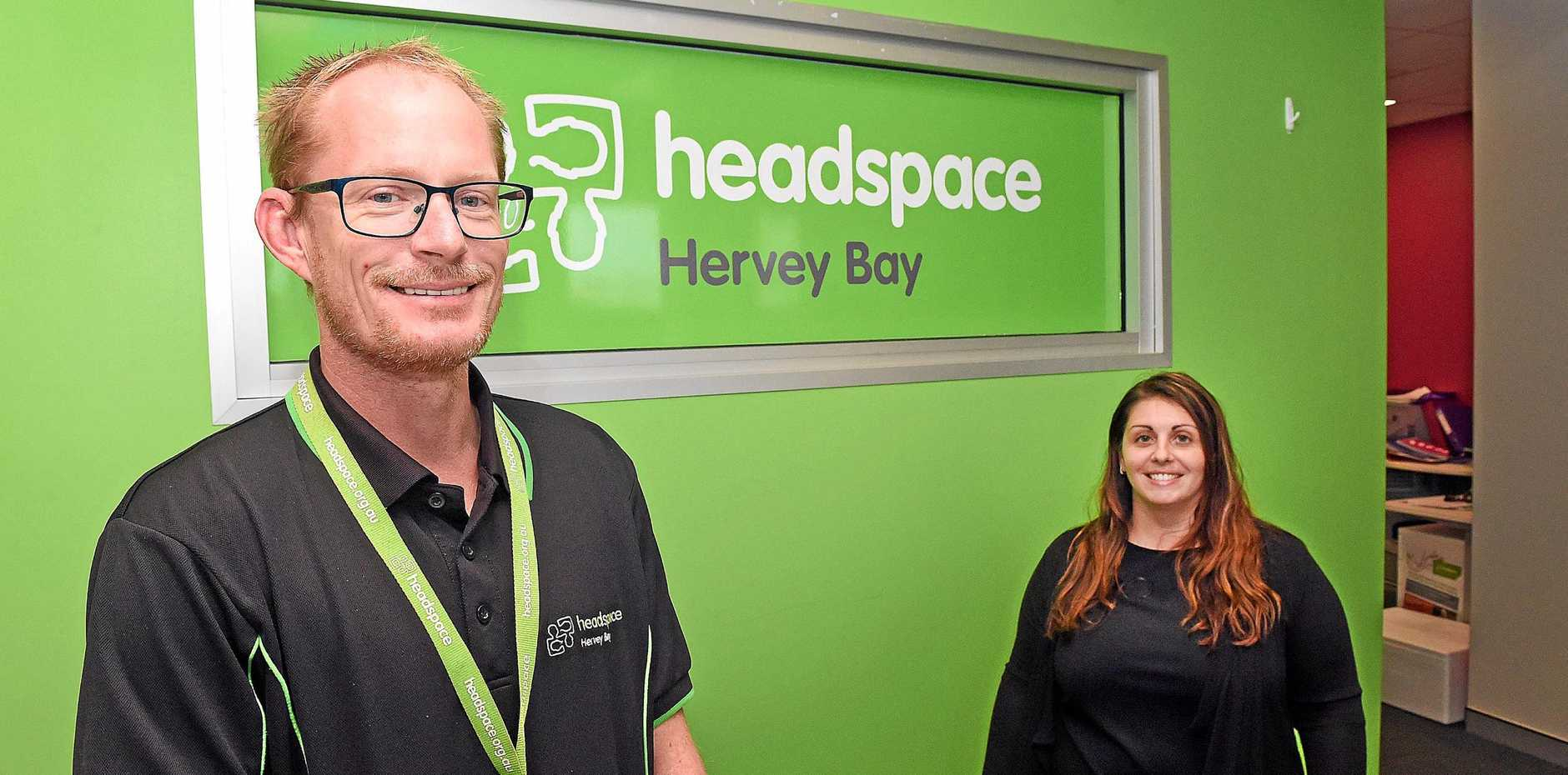 SATELLITE OFFICE OPENING: Ricky Goostrey and Melissa Carson from Headspace Hervey Bay. A satellite office will open in Maryborough to provide services for young people.
