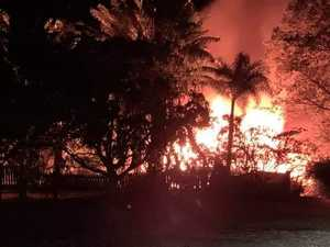 Bundaberg home engulfed by flames