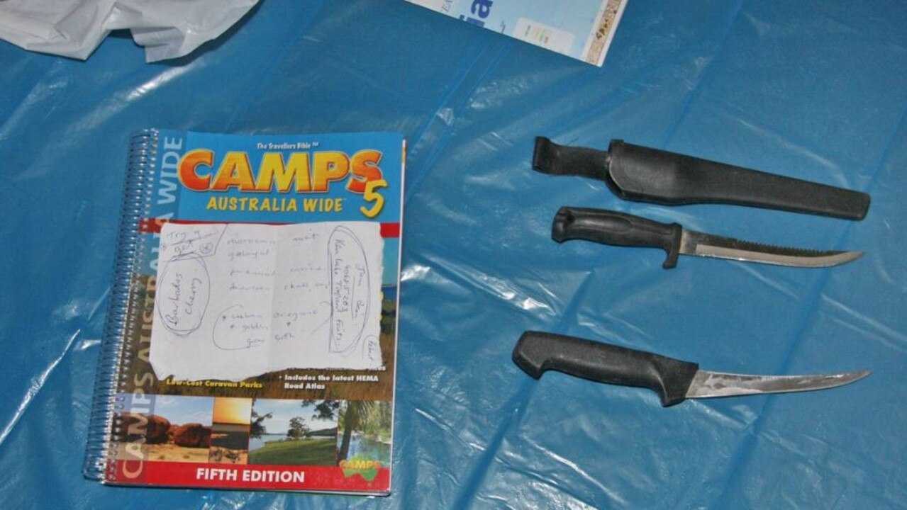 Items found in convicted killer Graham Potter's hideout.