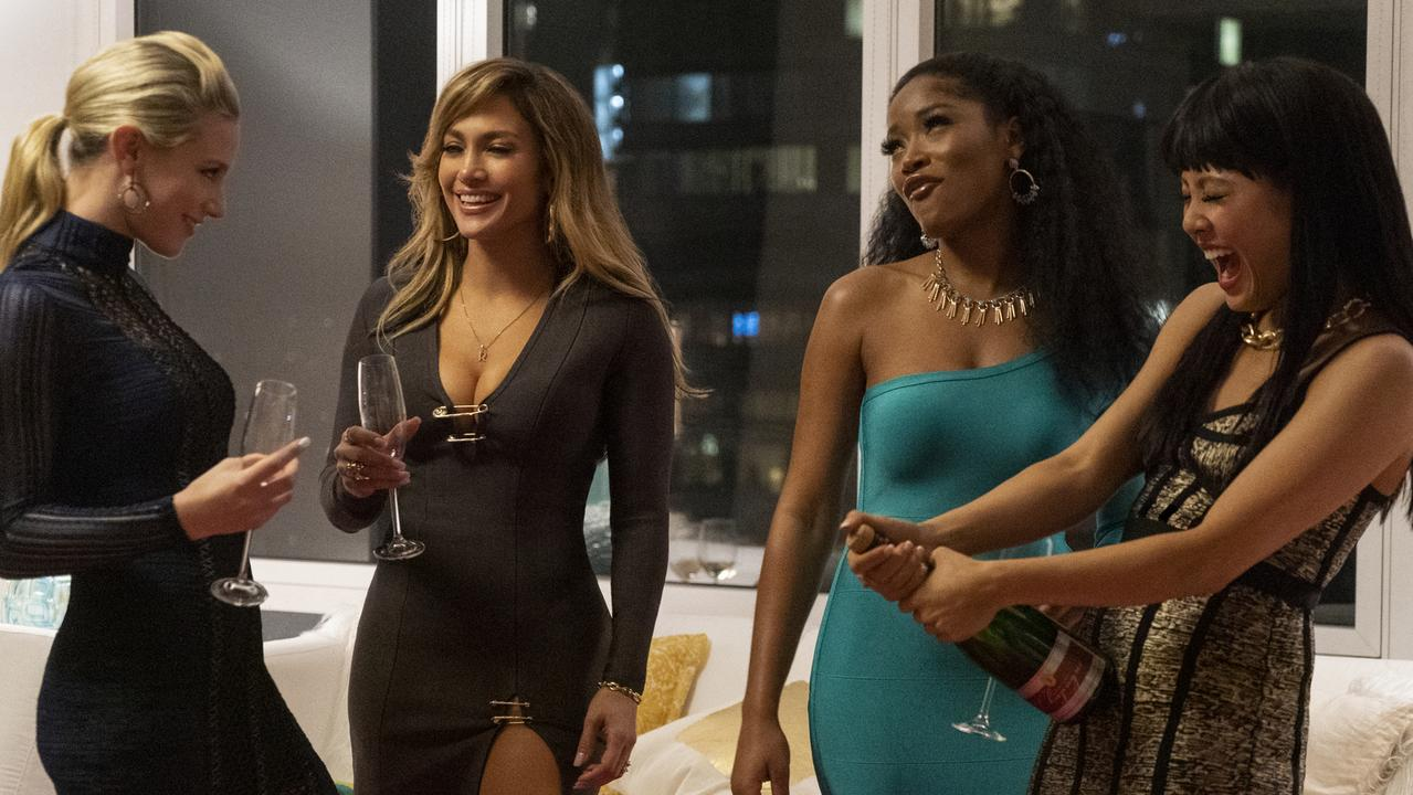 Lili Reinhart, Jennifer Lopez, Keke Palmer and Constance Wu in a scene from Hustlers. Picture: STXfilms via AP