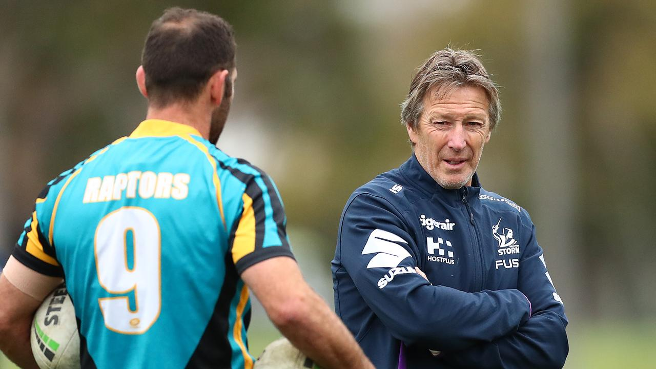Craig Bellamy has hinted Des Hasler is the mastermind behind the verbal attack on Cameron Smith. Picture: Getty Images