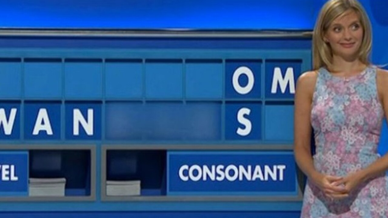 Rachel Riley looked uncomfortable after the letters were revealed. Picture: Channel 4