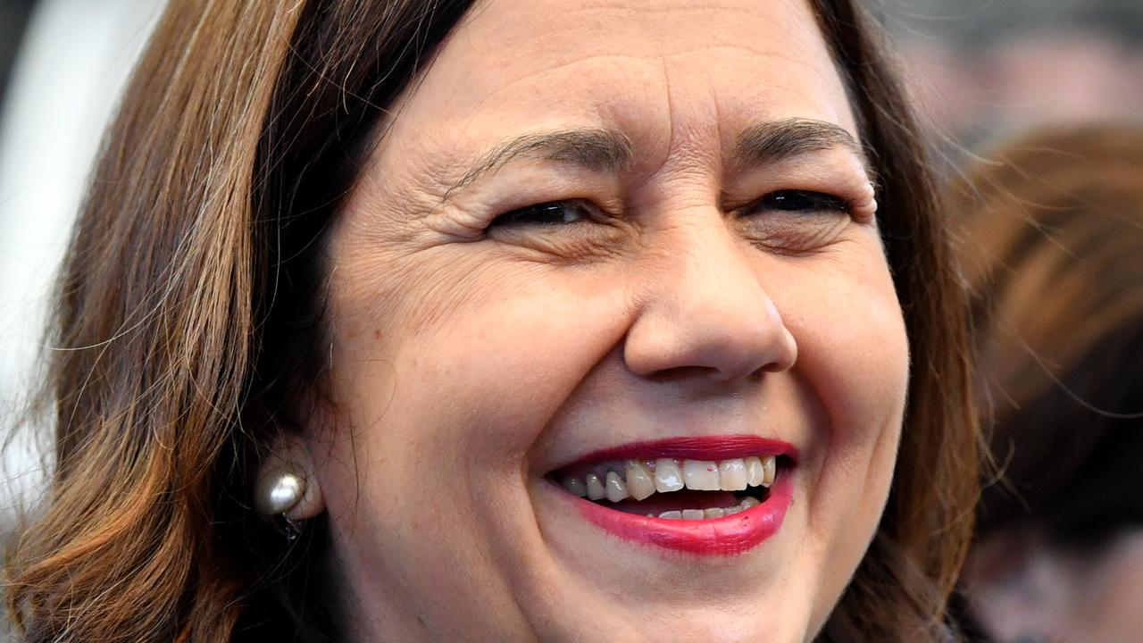 Premier Annastacia Palaszczuk says she's open to love but isn't looking either. Picture: AAP/Darren England