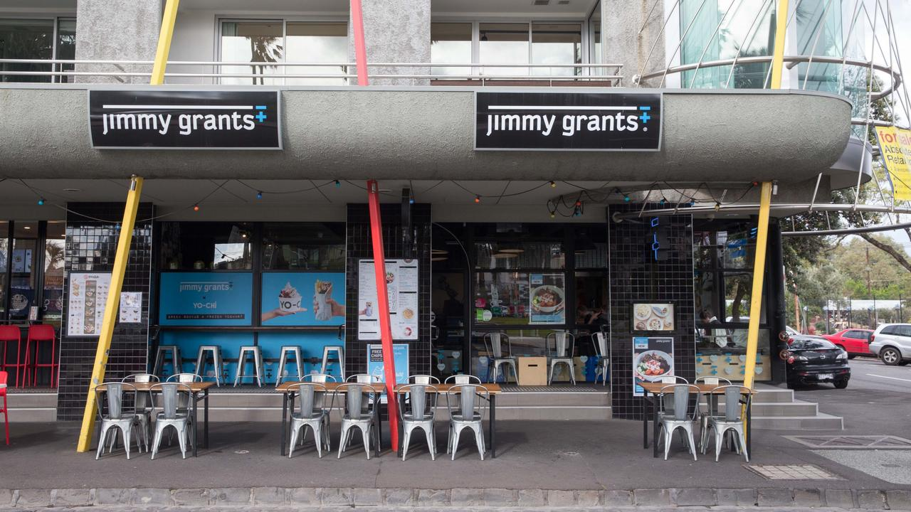 Jimmy Grants wasn't the thriving lunchtime hot spot it once was. Picture: Matrix