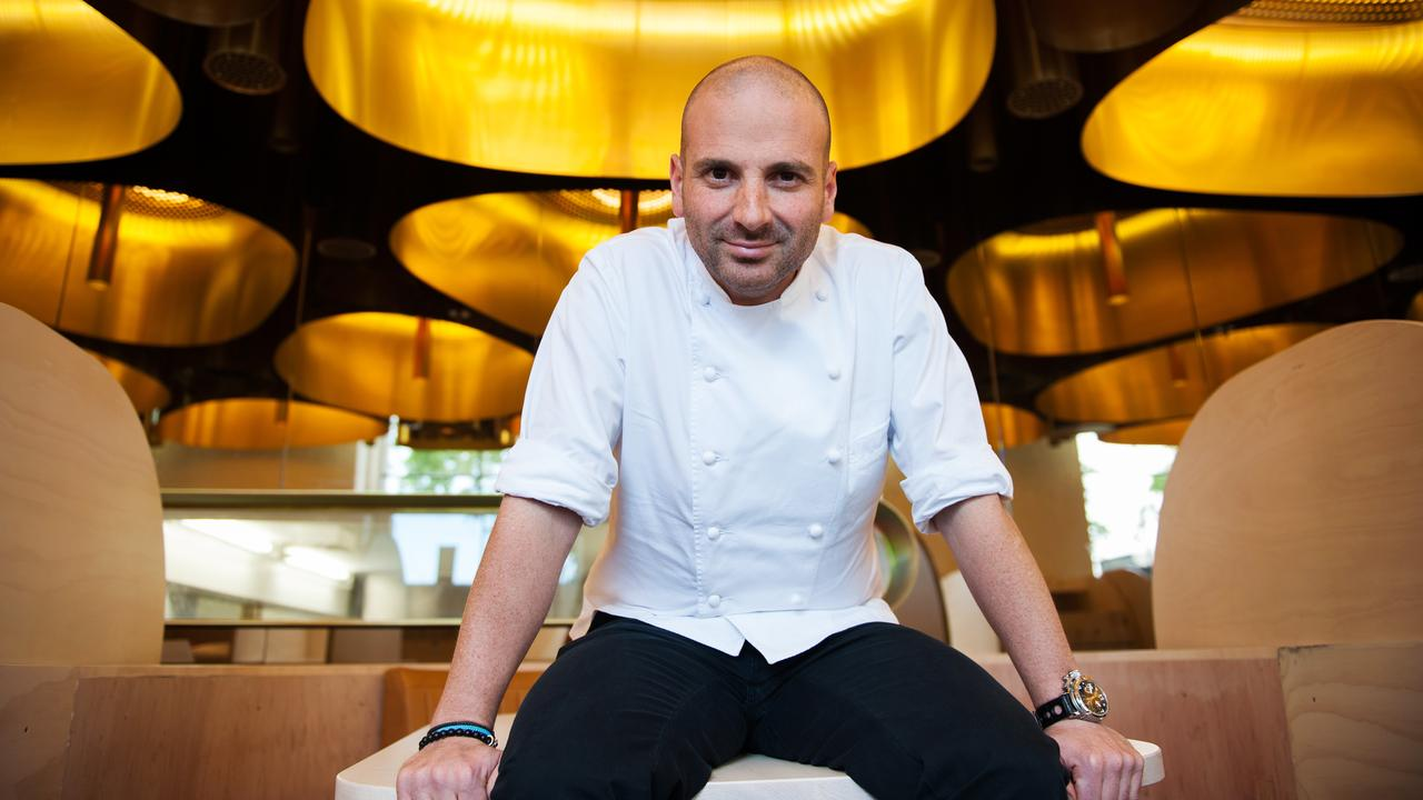 Calombaris inside his award-winning restaurant Press Club, which recently closed.