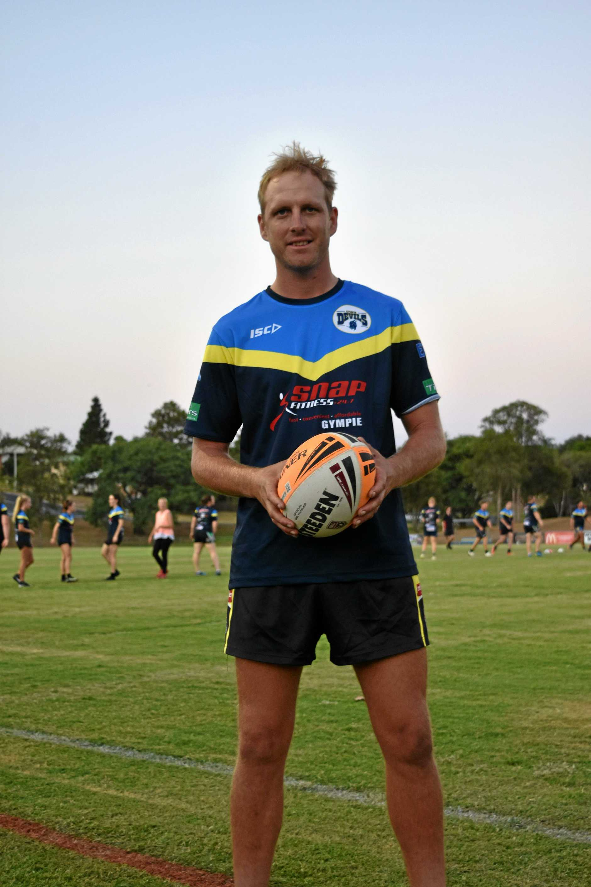 INAUGURAL COACH: Gympie's Devils women's coach Troy Carlson has big plans for the sides first season.