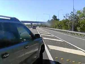 Reckless driving almost causes major motorway crash