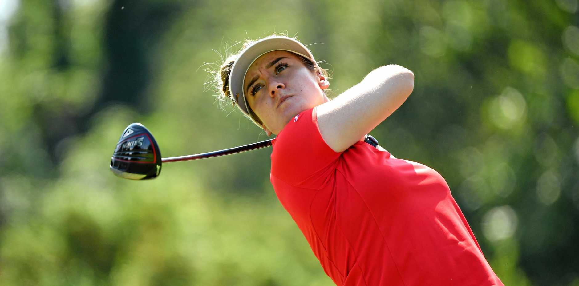Hannah Green in action on day two of the Evian Championship at Evian Resort Golf Club, Evian-les-Bains, France. Picture: Stuart Franklin/Getty Images