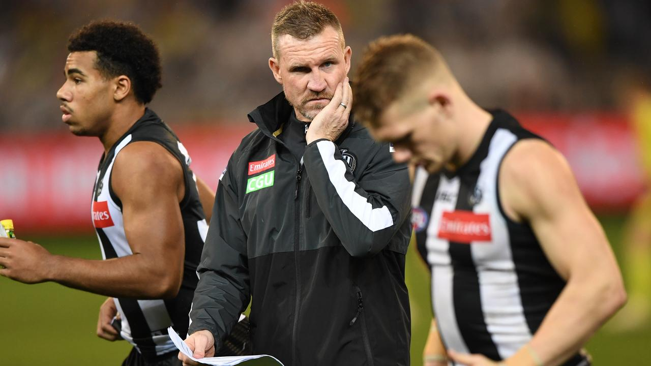 Collingwood coach Nathan Buckley needs to find some answers quickly.