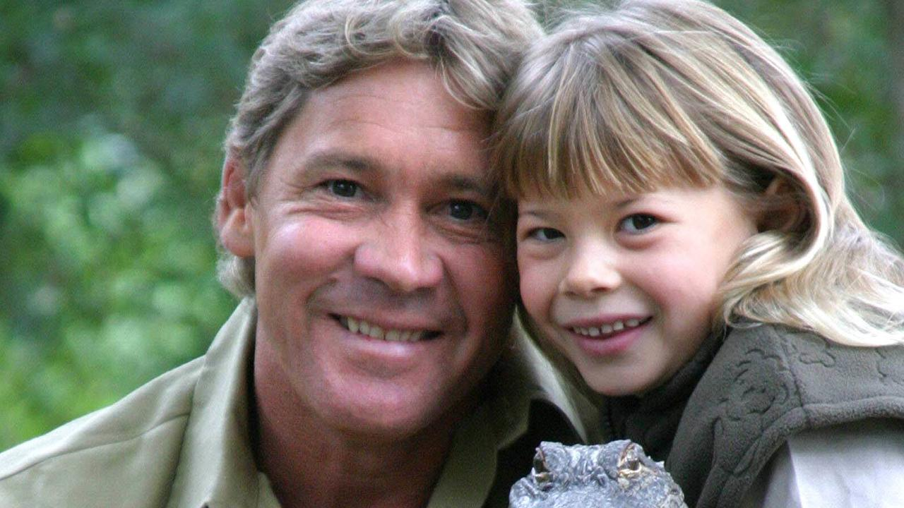 Steve Irwin with daughter Bindi.