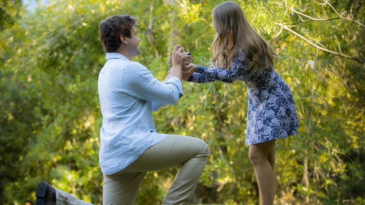 Robert Irwin photographed the moment Chandler proposed. Picture: Robert Irwin/@robertirwinphotography/Instagram