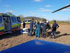 Two people airlifted in separate incidents at Biloela