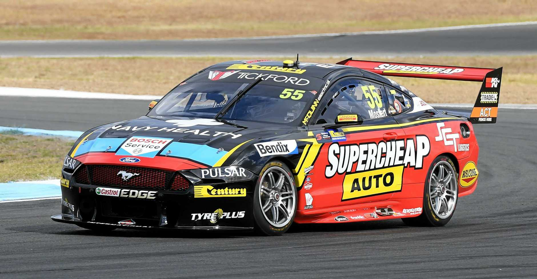 PODIUM: Supercheap Auto Racing's Chaz Mostert had a solid weekend at the Ipswich SuperSprint at Queensland Raceway.
