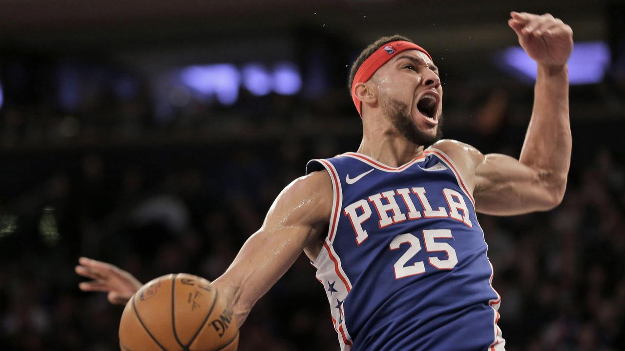 Ben Simmons in action for the 76ers. Picture: AP Photo/Seth Wenig