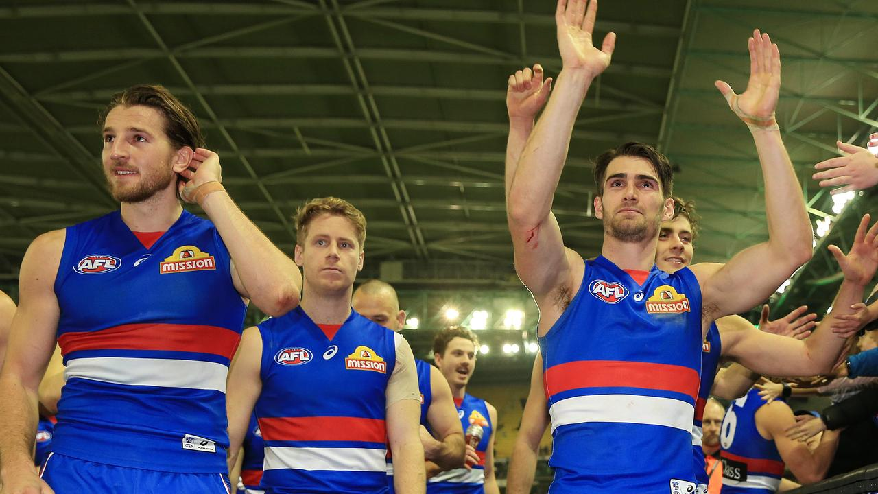 Marcus Bontempelli is the likely successor to Easton Wood as Western Bulldogs captain. Picture: Mark Stewart.