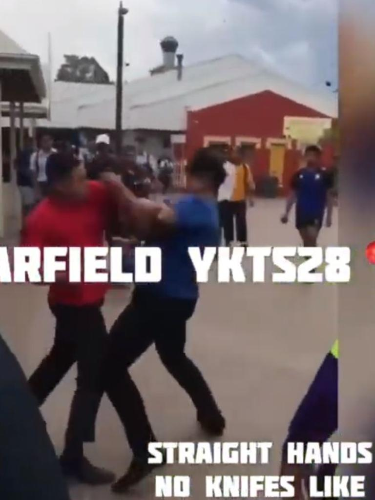 Another video posted to YouTube of a fight at Fairfield train station.
