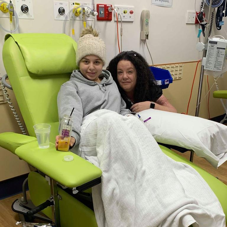 Olivia has treatment in hospital. Picture: Supplied