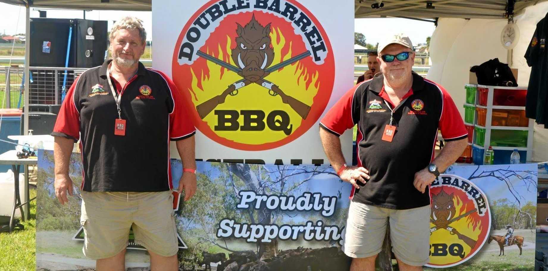 WINNERS ARE GRINNERS: Double Barrel BBQ's Neil Dransfield (left) Adrian Blomfield (right).