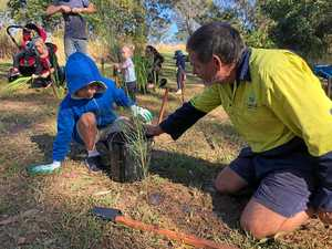 Little ones not afraid to get hands dirty at M'boro event