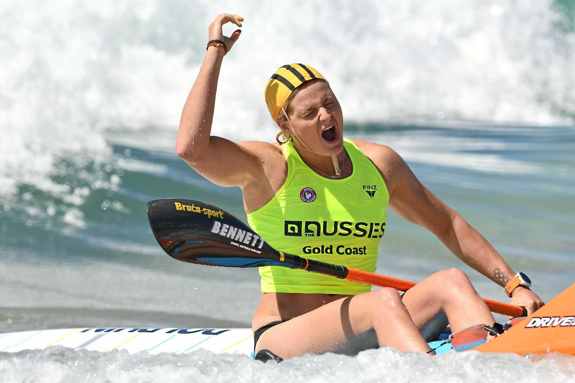 Alexandra Headland athlete Alyssa Bull won four gold medals during the Australian Surf Life Saving Championships