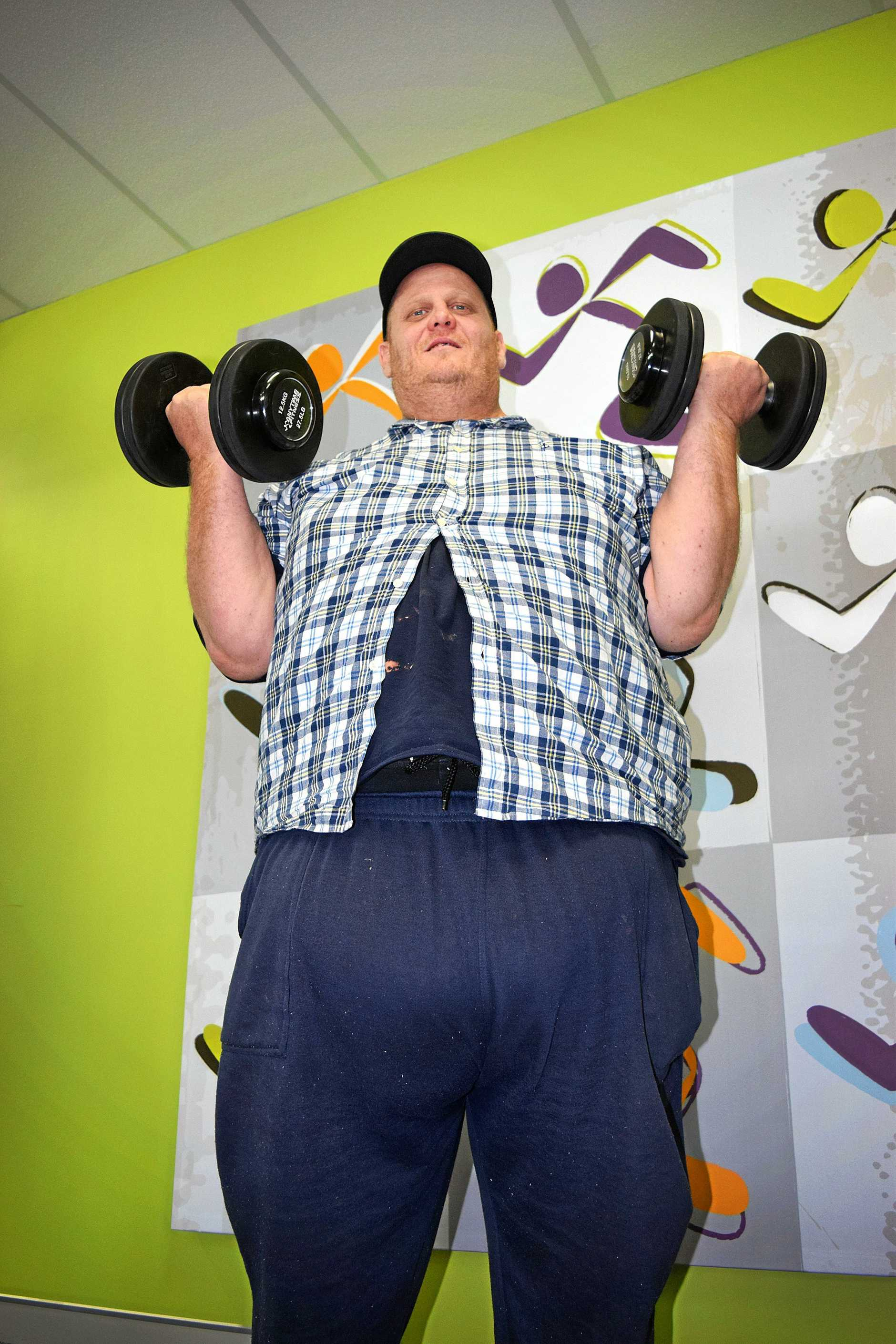 Ted Logan in his own personal weight loss  challenge wanting to loss 100kg.