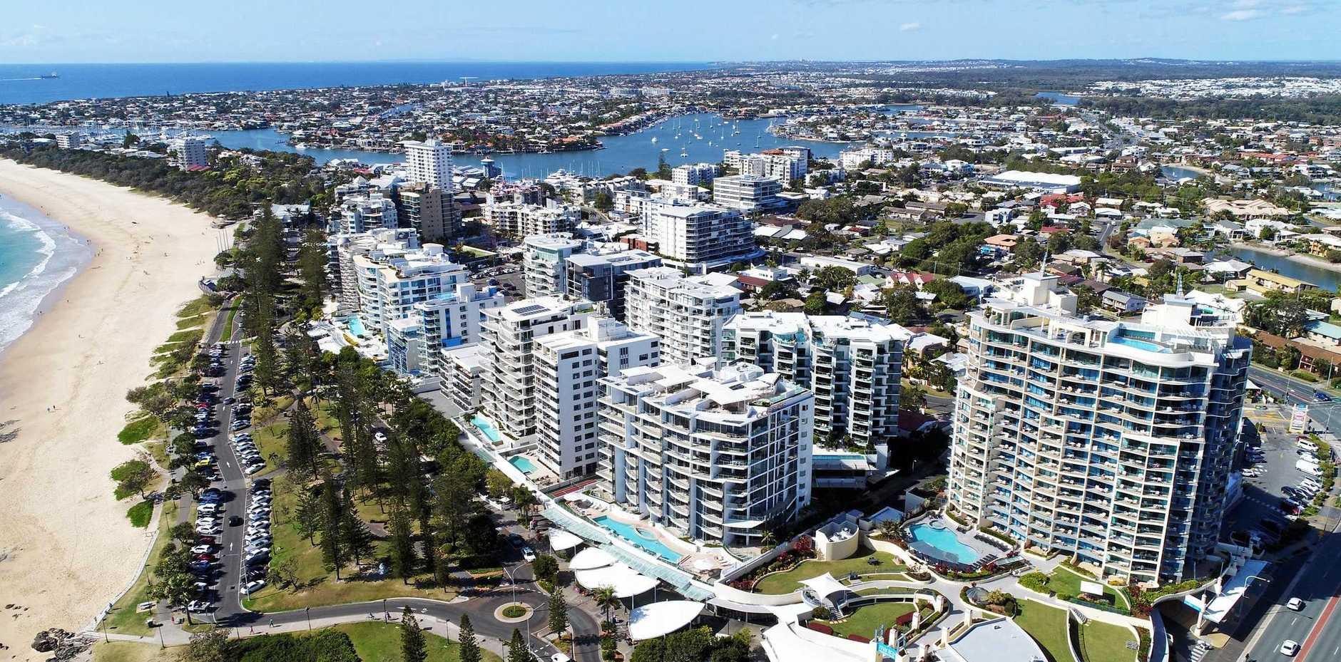 DRONE: Aerial photos of Mooloolaba, Alexandra Headland, Sunshine Coast.