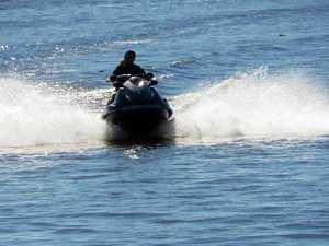 Man rescued from surf in horror jet ski crash
