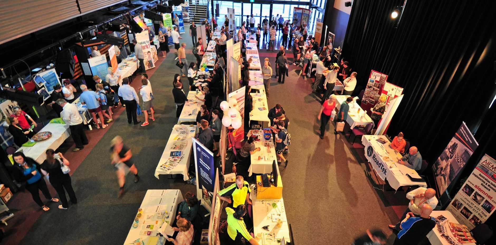 BIG OPPORTUNITY: Jobseekers at a previous Job Fair at Maryborough's Brolga Theatre.