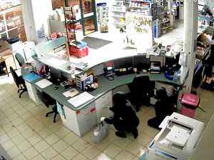 WATCH: Hooded figures burgle a CBD business