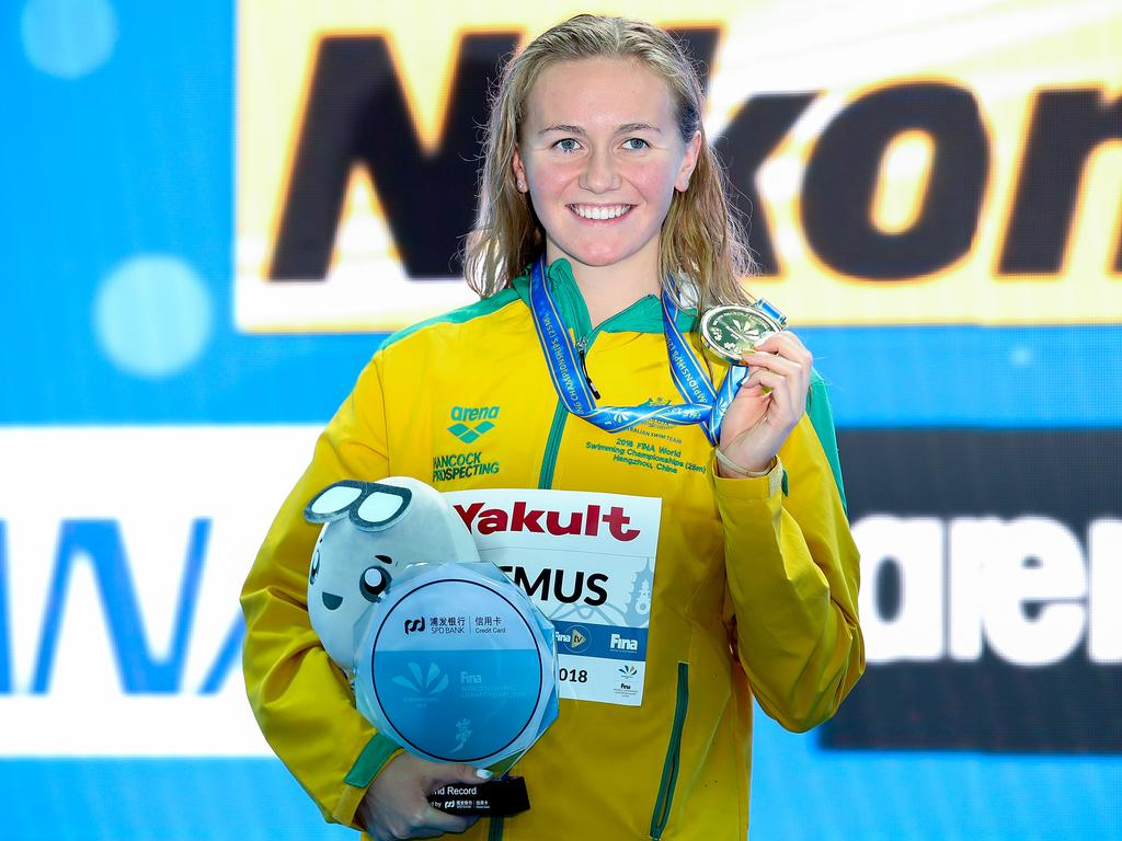 Ariarne Titmus won the only individual gold medal for Australia. (Photo by Lintao Zhang/Getty Images)