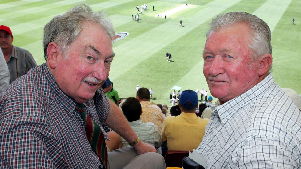 Lew Cooper and Sam Trimble at the Gabba Test for the Ashes in 2006.