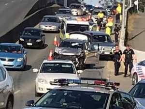 TRAFFIC CHAOS: Dramatic arrest after cars rammed