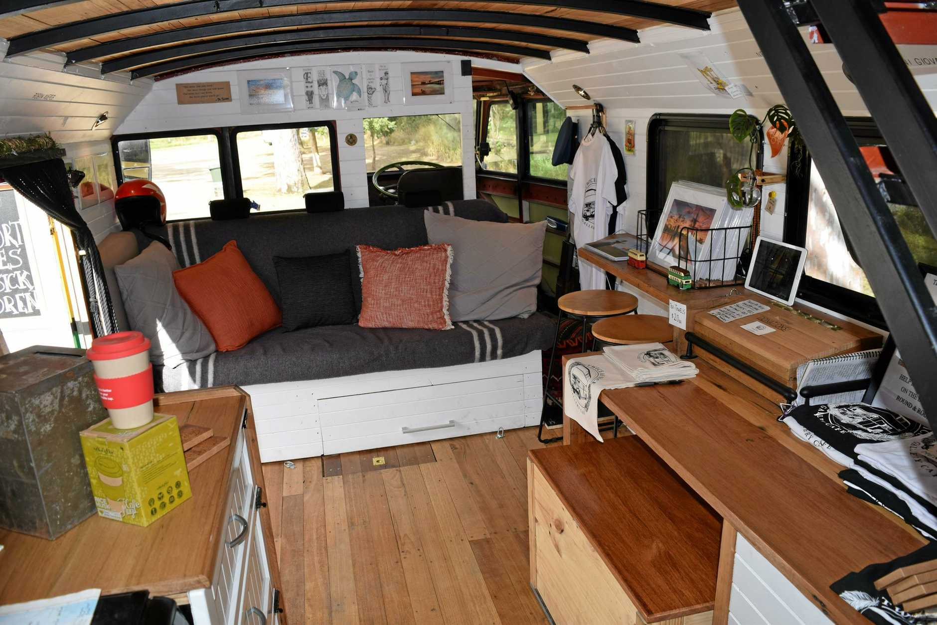 Lorie Norton is traveling around Australia in Corazon, his double decker, fully self-sufficient bus raising money and awareness for  Eli's Gift Foundation.