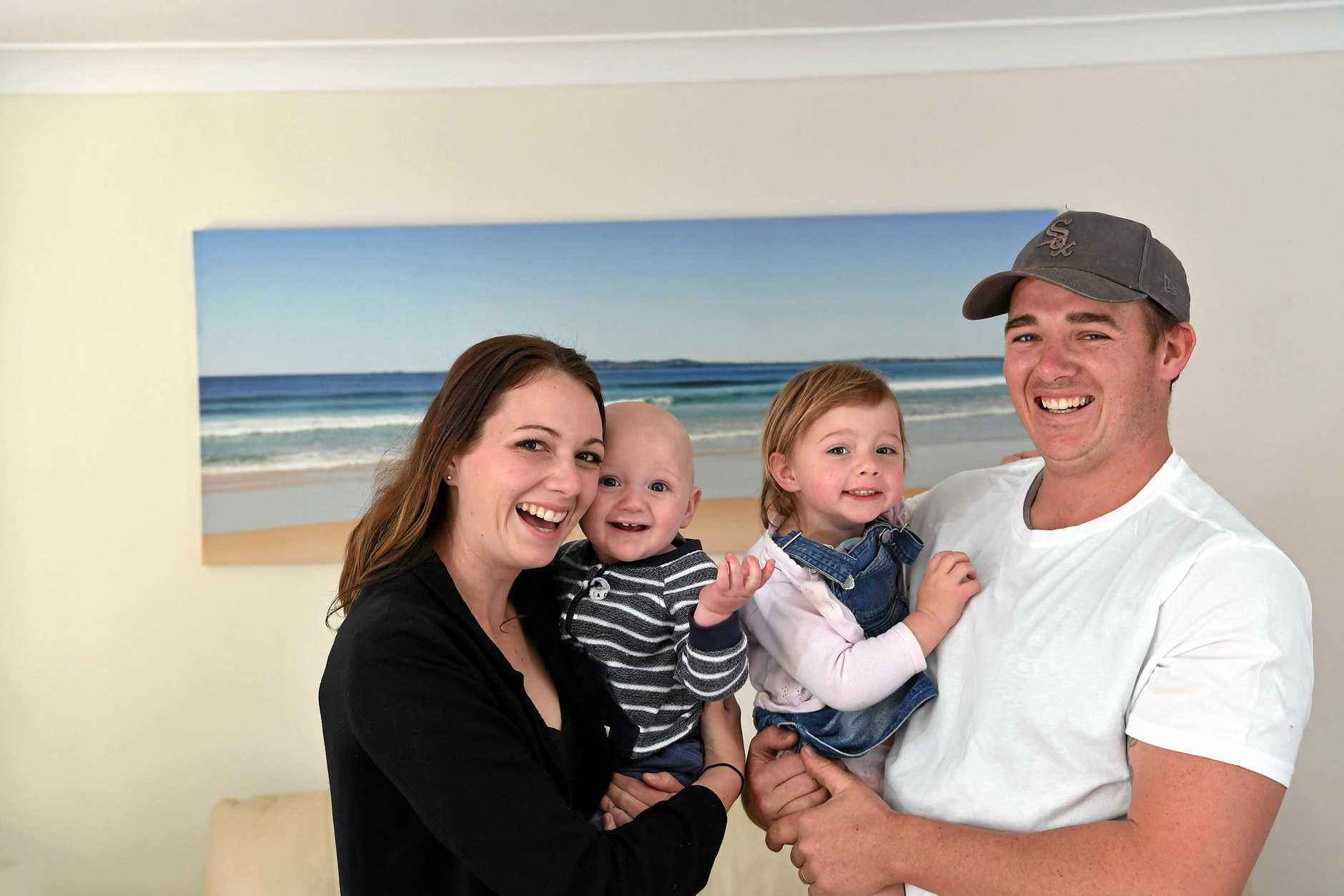 Sam Liddle with wife Hannah and children Isabella, 2, and Jesse, 9 months, will relocate their young family to PNG to help remote tribes in the West Sepik.