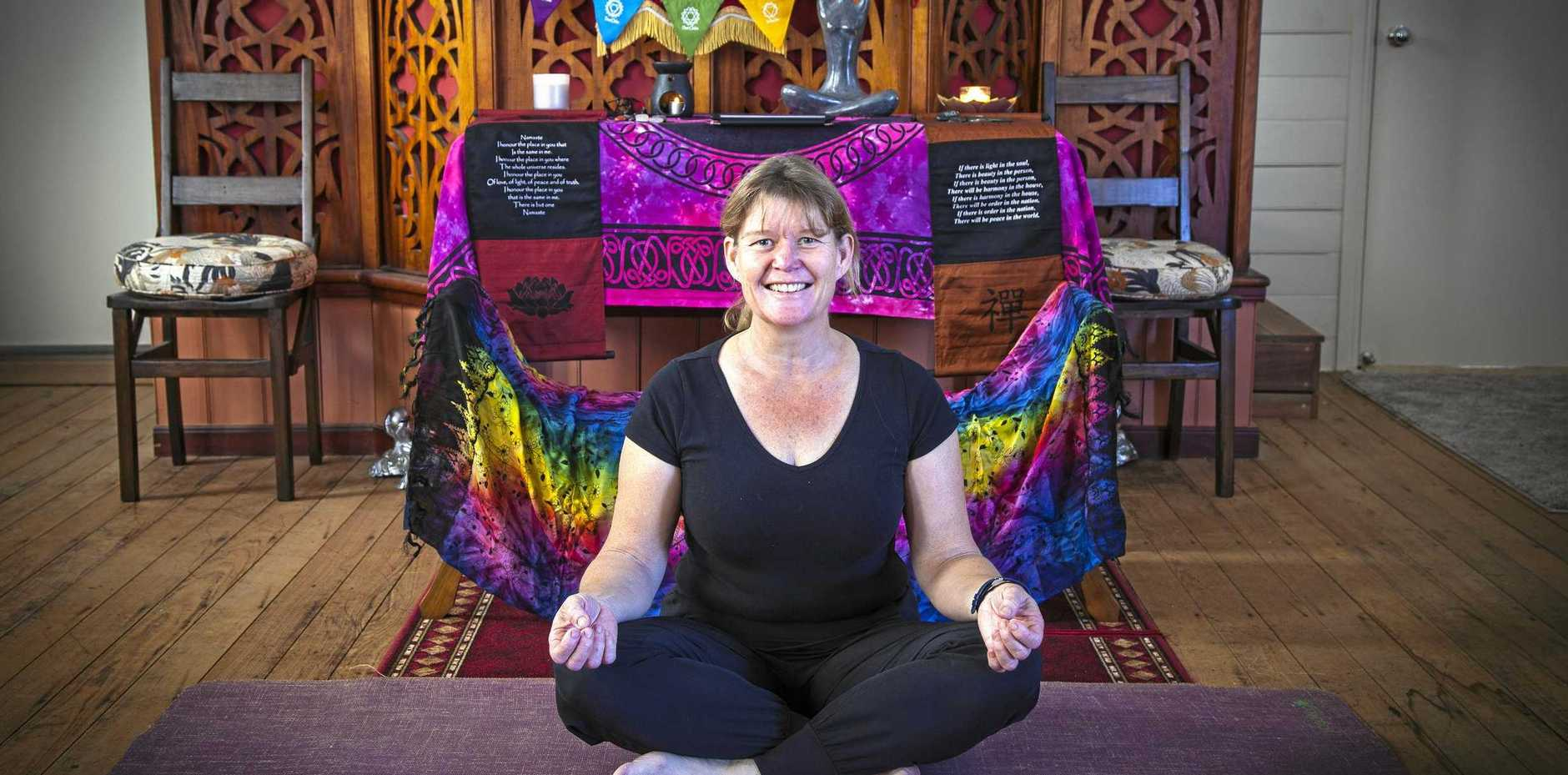 BREATHE DEEPLY: Mount Perry's newest yoga instructor, Tracy Murray.