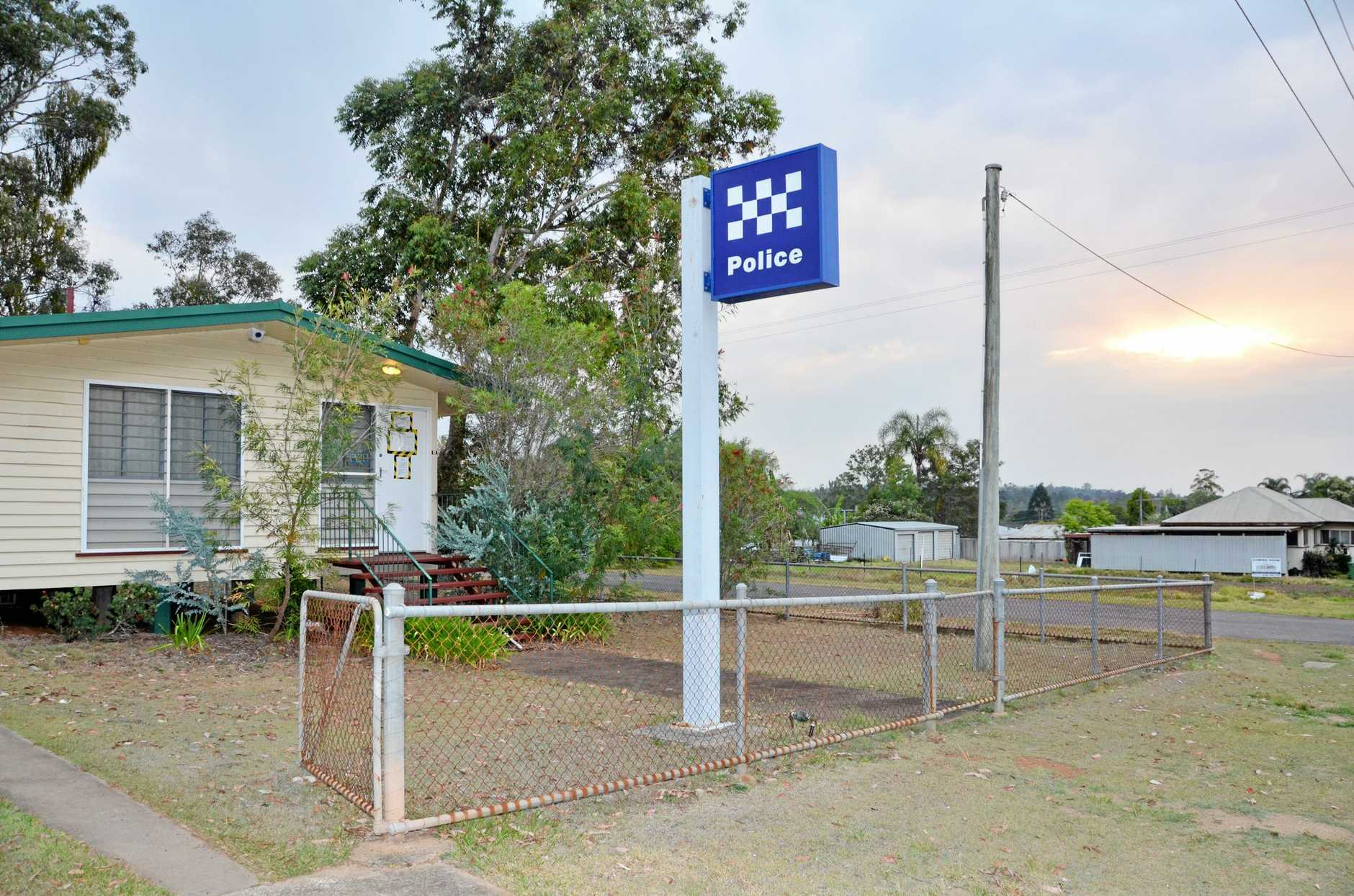 An officer's personal vehicle was targeted at the Blackbutt Police Station last week.