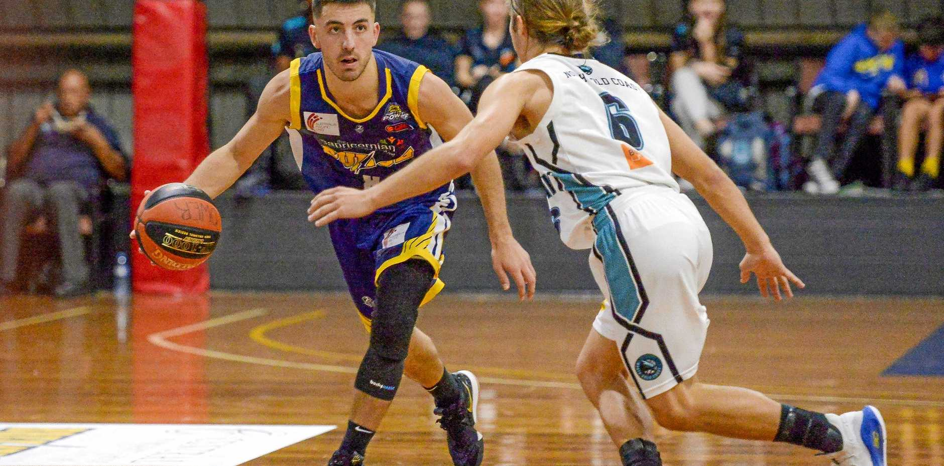 SURGING AHEAD: Gladstone guard Kyle Tipene has been one of the mainstays this season.