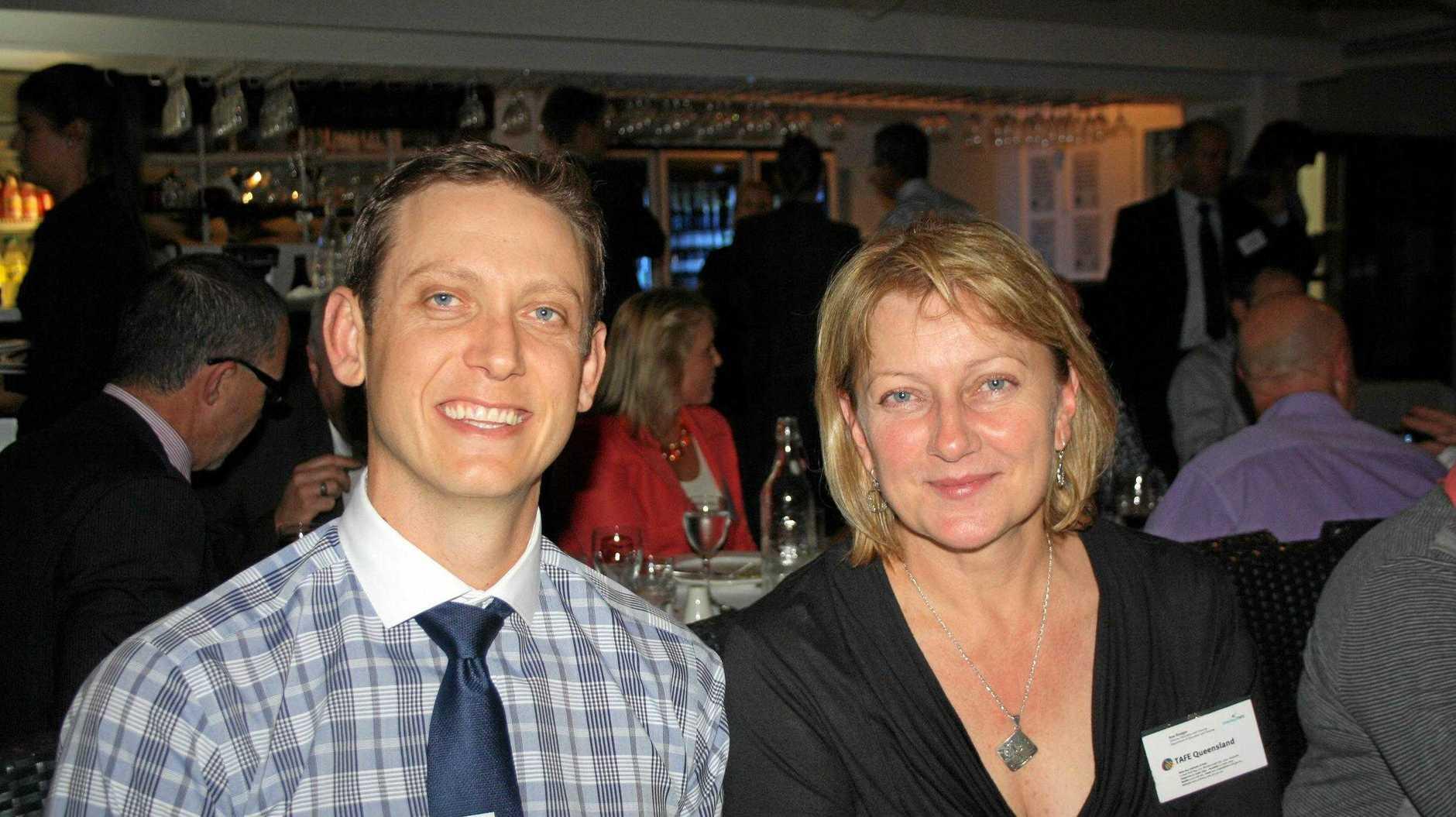 John Cranley of Southern Cross Austereo and Ana Rodger of TAFE