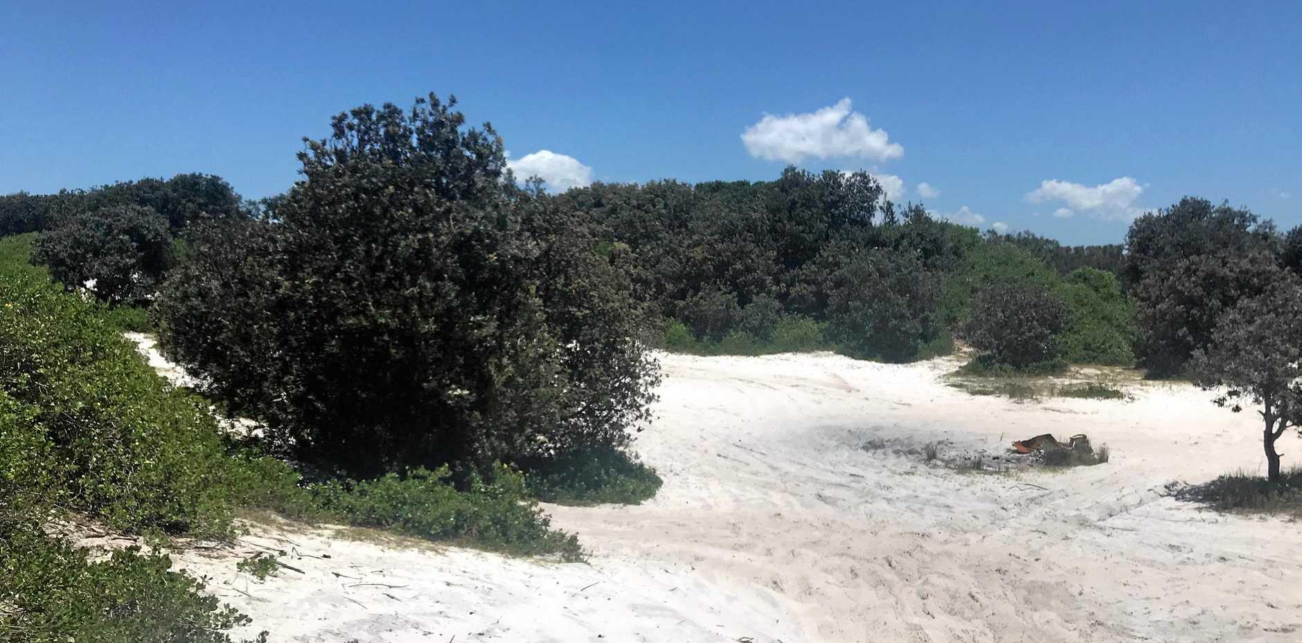 TREASURE IN THE DUNES: According to local legend, there is buried treasure in the dunes at South Ballina.