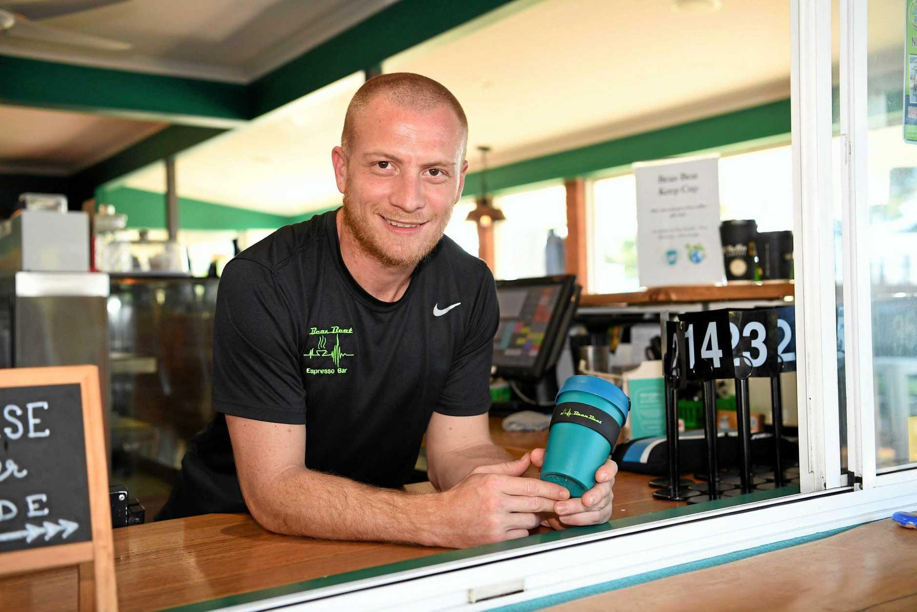 Top coffee shops - Owner of Bean Beat Oscar Malmros.