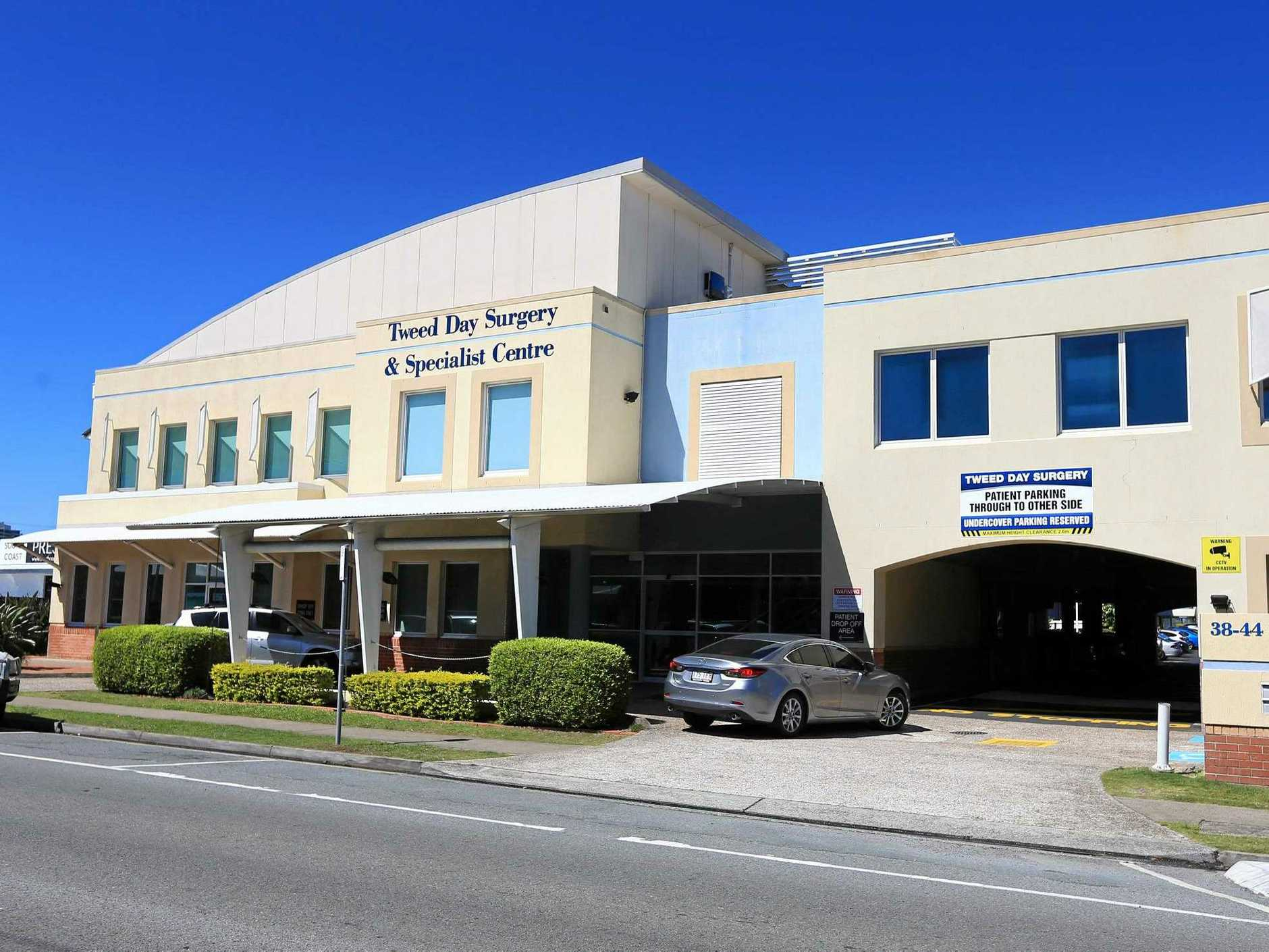 RUNNING THE GAUNTLET: A local doctor is worried about the safety of his patients outside Tweed Day Surgery.