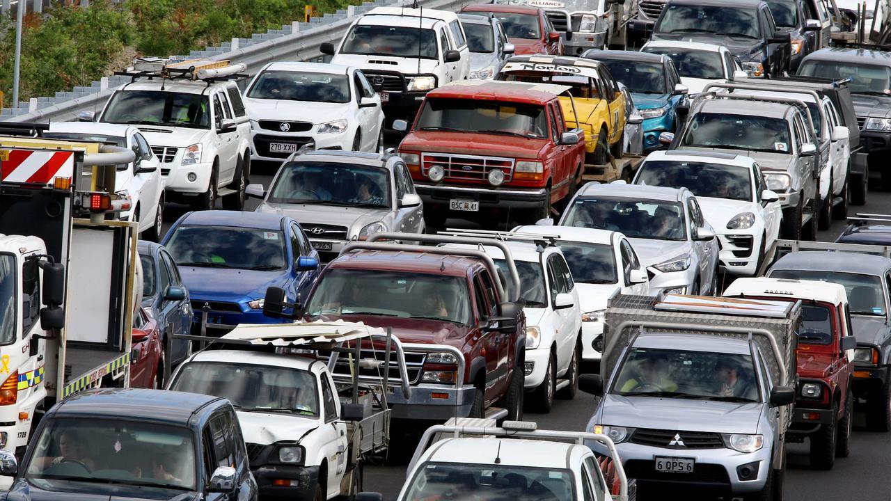 Bottlenecks add to commuter frustration. Picture: AAP/David Clark