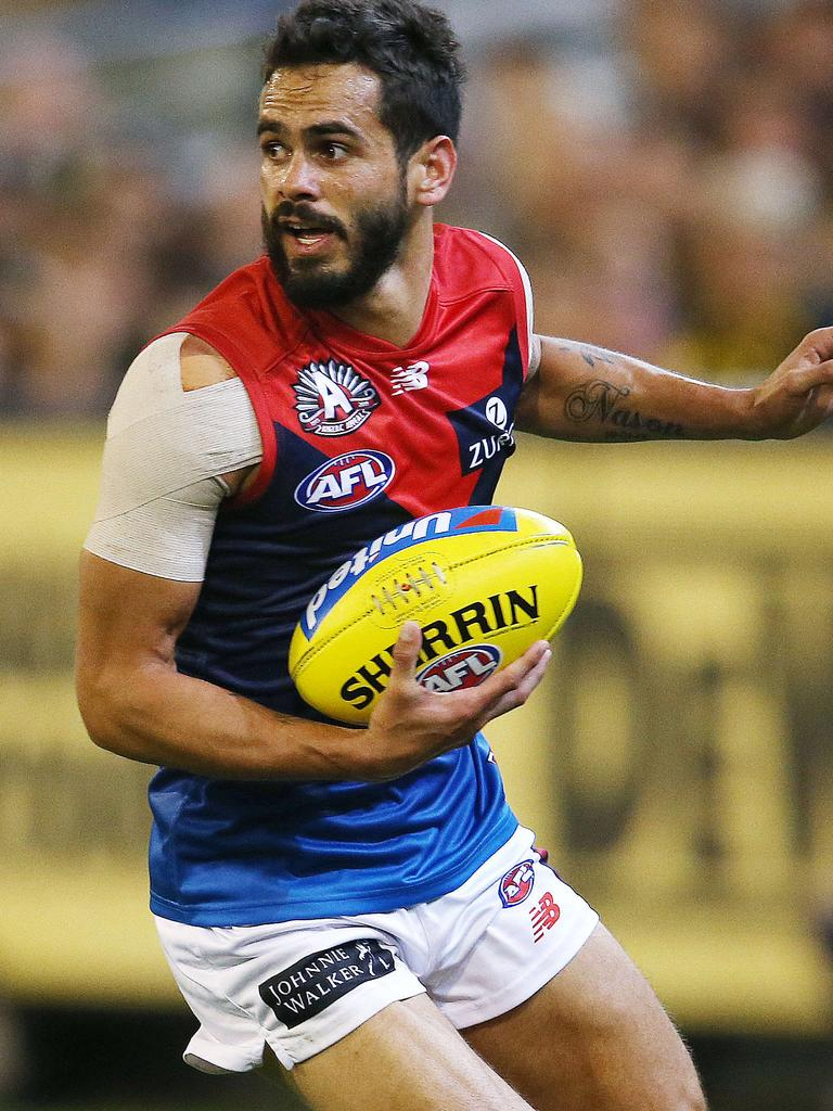 Jeff Garlett seems to have fallen out of favour at Melbourne. Picture: Michael Klein.
