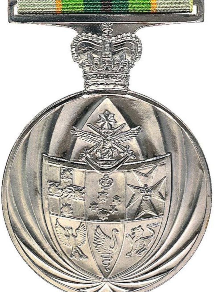 The Australian Service Medal.